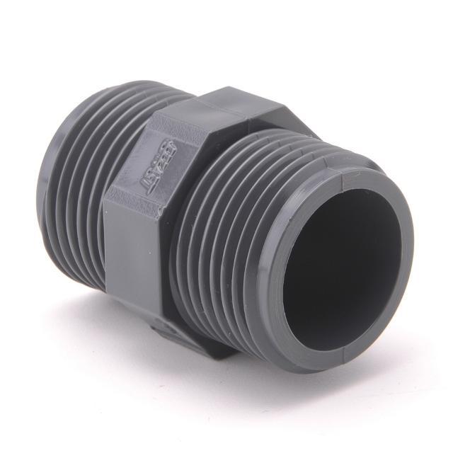 AQUAPLASTIK PVC-UH vsuvky závitové (nipl) , PVC-UH vsuvka závitová (nipl) G 6/4