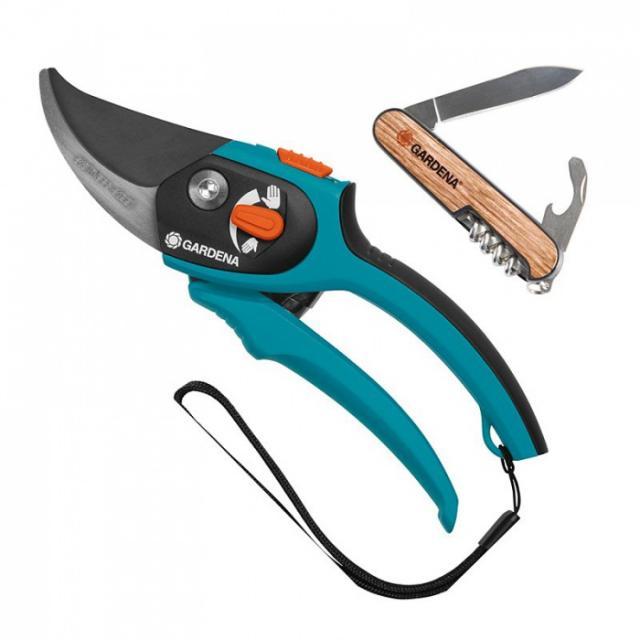 Gardena nůžky + kapesní nůž Praktické zahradní nůžky + univerzální nůž ZDARMA